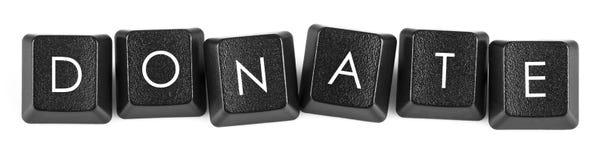 Daruje klawiaturowego guzika obrazy stock
