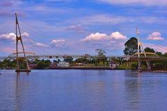 Darul Hana Bridge In Kuching, Sarawak imágenes de archivo libres de regalías