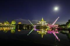 Darul Hana Bridge Kuching Sarawak, Bornéo Photos libres de droits