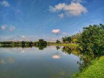 Darulaman湖在Jitra,吉打,马来西亚 库存照片