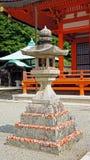 Daruma Doll on Lantern of Katsuoji temple in Japan Royalty Free Stock Photography