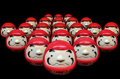Daruma dolls in black isolate background Stock Images