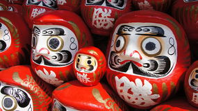 Daruma Dolls of Katsuoji temple in Japan Stock Image