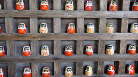 Daruma Dolls of Katsuoji temple in Japan Royalty Free Stock Photos