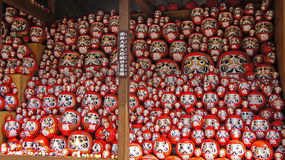 Daruma Dolls of Katsuoji temple in Japan Royalty Free Stock Photography