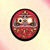 Daruma japansk traditionell docka royaltyfri illustrationer