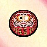 Daruma japansk traditionell docka stock illustrationer