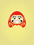 Daruma in waves Royalty Free Stock Images