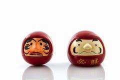 Darumas szczęsliwa lala, symbole kulturalni Japonia i sprawy duchowe tr, obraz stock