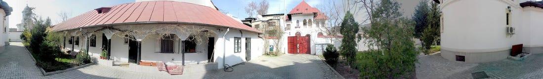 Darvari修道院,布加勒斯特, 360度全景 图库摄影