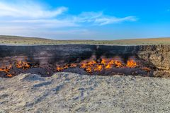 Darvaza Gas Crater Pit 04 stock images