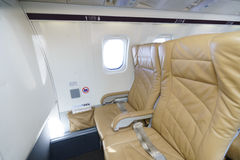 Darwin Airline Saab 2000 interior Royalty Free Stock Image