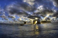 Darwin Arch, Darwin Island, de Galapagos Royalty-vrije Stock Foto's