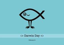 Darwin Day vektor stock illustrationer