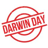 Darwin dnia pieczątka ilustracji