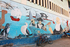Darwin Mural Royalty-vrije Stock Foto's