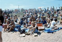 1976. Australia. N.T. Darwin. Beer can regatta. The Photo shows spectators enjoying the day of the ` Beer can regatta`. A beatifull sunny Sunday Royalty Free Stock Photos