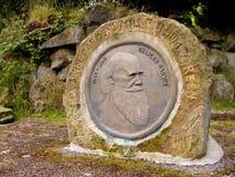 Charles Darwin Monument, Darwin Gardens Millennium Stock Photos