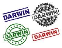 DARWIN Seal Stamps strutturato graffiato illustrazione di stock