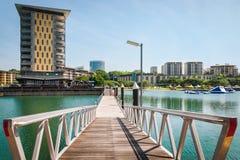 Darwin Waterfront Wharf, territoire du nord, Australie Photographie stock libre de droits
