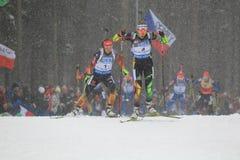 Darya Domracheva - biathlon leader Royalty Free Stock Photos