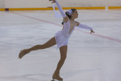 Darya Pazyuk from Ukraine performs Gold Class III Girls Free Skating Program Stock Photography
