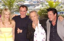 Daryl Hannah,大卫Carradine,迈克尔Madsen, Quentin Tarantino 免版税库存图片