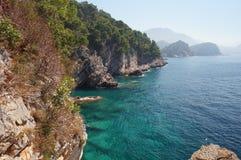 Das ökologisch sauberste adriatische Meer Stockfoto