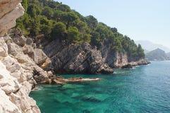 Das ökologisch sauberste adriatische Meer Lizenzfreies Stockfoto