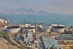 das Öl-Depot bei Nam Wan HK Stockfotos