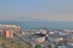 das Öl-Depot bei Nam Wan HK Lizenzfreies Stockbild