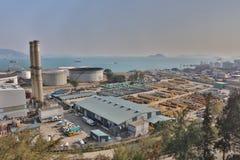 das Öl-Depot bei Nam Wan HK Stockfotografie