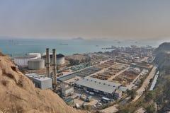 das Öl-Depot bei Nam Wan HK Stockbild