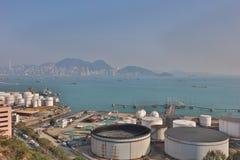 das Öl-Depot bei Nam Wan HK Lizenzfreie Stockfotos