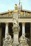Das österreichische Parlament in Wien Stockfotografie