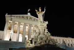 Das österreichische Parlaments-Gebäude, Wien Stockfotografie