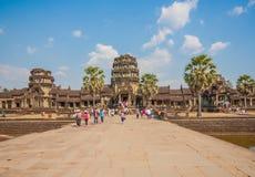 Das Überraschen von Angkor Wat, Kambodscha stockfotografie