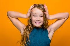 Das überraschte jugendlich Mädchen Lizenzfreie Stockfotografie