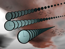 Das Überschreiten der Zeit. vektor abbildung
