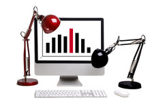 Das Überwachungsgerät mit Diagramm Lizenzfreie Stockfotografie