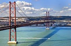 Das 25. der April-Brücke Lizenzfreies Stockbild