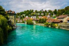 Das Aare in Bern, die Schweiz Lizenzfreie Stockfotos