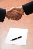 Das Abkommen Stockbilder