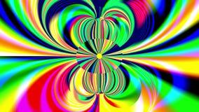 Das abstrakte Austauschen wölbt sich mit einem Oval in der Mitte, alles in den verschiedenen Regenbogenfarben lizenzfreie abbildung