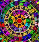 Das abstrakte Bild der Mandala aus Zahlen bestehend wine und Traube Lizenzfreie Abbildung