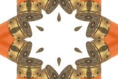 Das abstrakte Bild des Jagdgönners. Stockbild