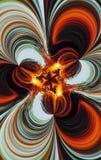 Das abstrakte Bild eines Feuers im Nachtholz. Lizenzfreies Stockbild