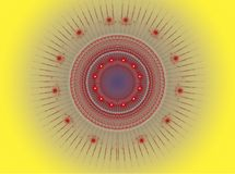 Das abstrakte Farbe Fractalbild. Stockfoto
