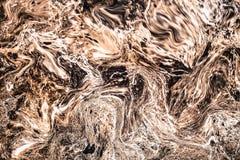 Das abstrakte gemalte Wellenmuster Marmortinten-Beschaffenheitsacryl bewegt Beschaffenheitshintergrund wellenartig Lizenzfreie Stockbilder