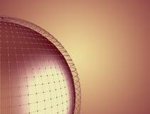 Das abstrakte Rednering 3d global schließen Netz an Lizenzfreie Stockbilder